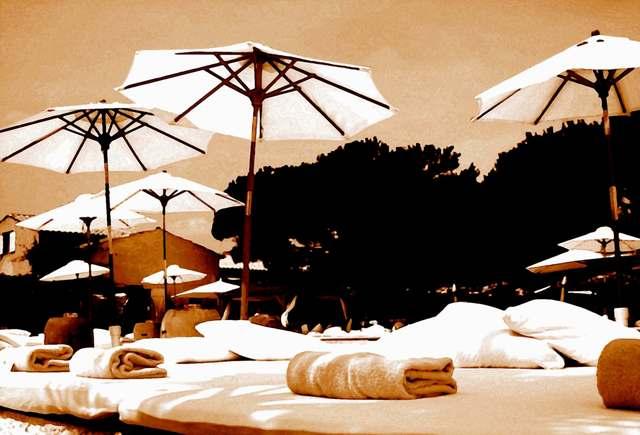 , 'Nikki Beach Umbrellas Sepia,' 2011, Galerie Barbara von Stechow