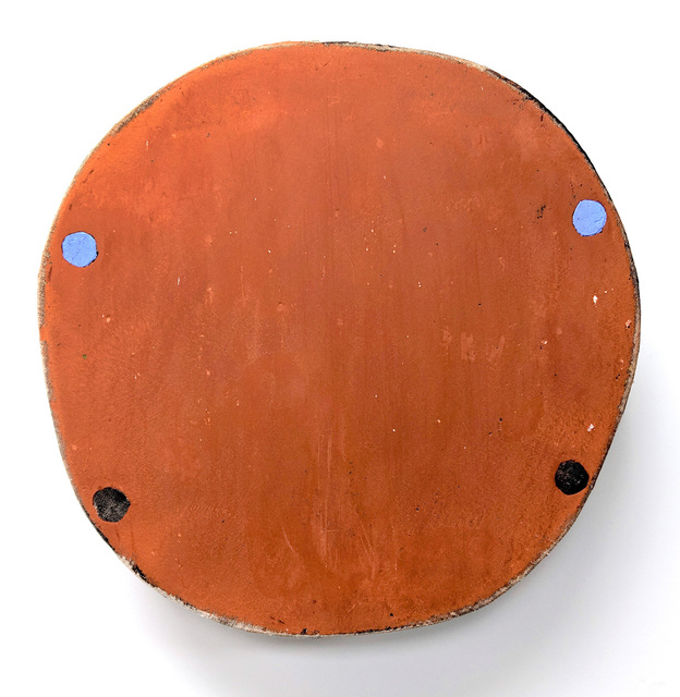 , 'Small Red Oxide with Four Circles Two Blue,' 2019, Marc Straus