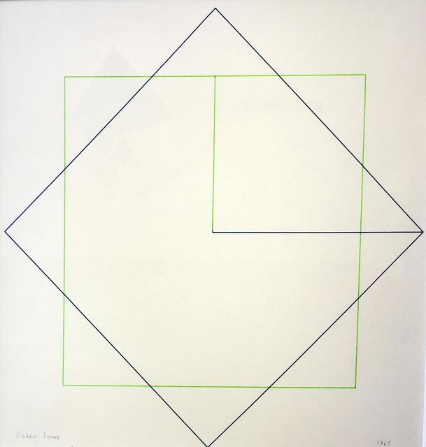 , 'Drawing for interlocking squares,' 1969, Waterhouse & Dodd