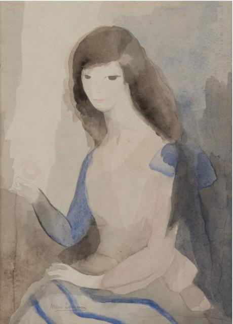, 'Portrait de jeune femme à la rose,' , BAILLY GALLERY