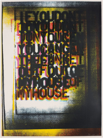 Christopher Wool, 'My House I', 2000, Maddox Gallery Auction