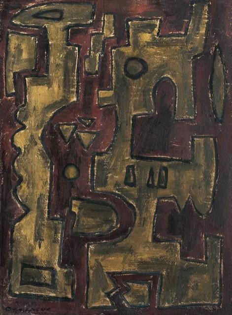 , 'Formas en Fondo de Ocre,' 1950, Galería de las Misiones