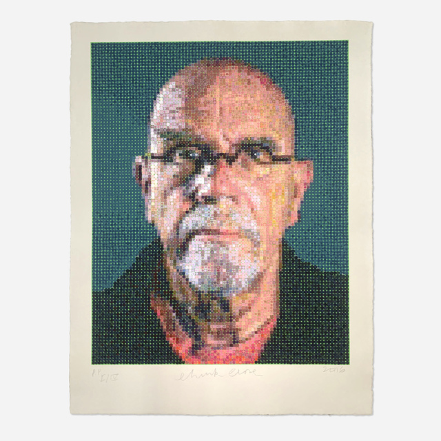 Chuck Close, 'Self Portrait', 2016, Print, Screenprint and felt stamp on handmade paper, Artsy x Rago/Wright
