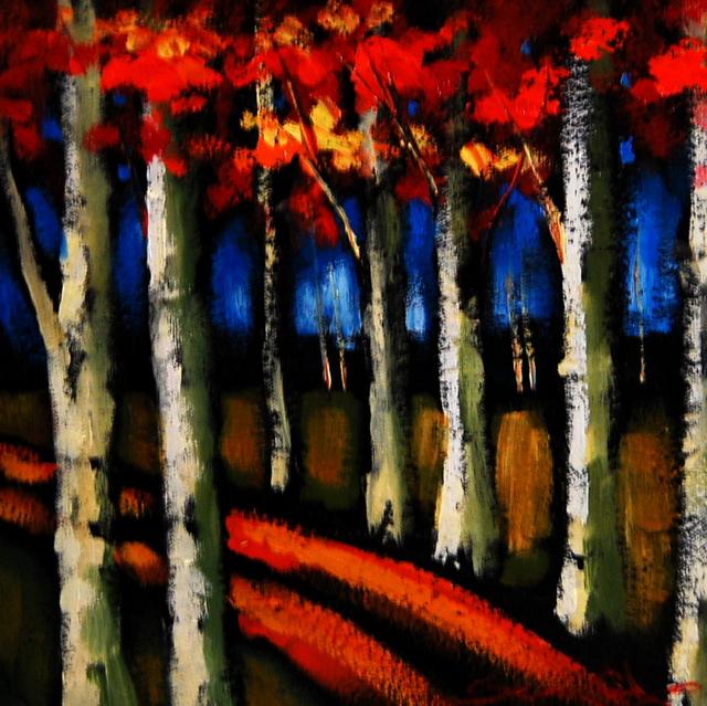 , 'Birch Trees I,' , Baterbys Art Gallery