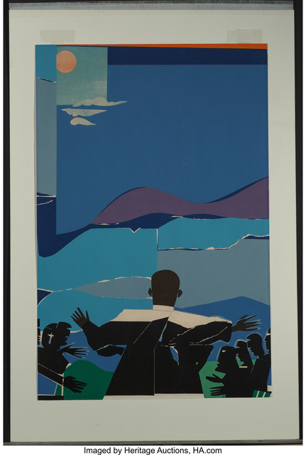 Romare Bearden, 'Martin Luther King Jr. - Mountain Top', 1968, Heritage Auctions