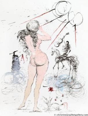 ", 'Apollinaire ""Woman, Horse and Death"",' 1967, Russell Collection"