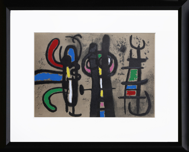 Joan Miró, 'Cartones 18: Personnage et Oiseau', 1965, RoGallery