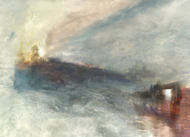 , 'The Burning of the Houses of Parliament no.7 (after JMW Turner, 1834)  ,' 2009, GBS Fine Art