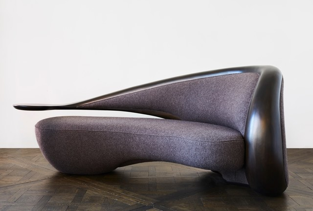 , 'Annecy Sofa with Arm Left (Ebony Wood),' 2016, Carpenters Workshop Gallery