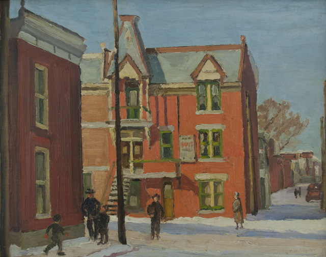 , 'Corner of Roy, and St. Christophe, Montreal,' 1950, Canadian Fine Arts