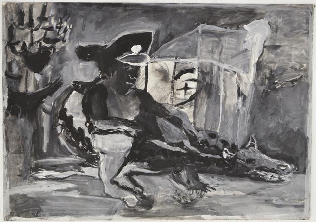 Anna Boghiguian, 'Cairo Series #1, Cairo Egypt, the military riding the crocodile like animal the god of underworld', 2014, Sfeir-Semler