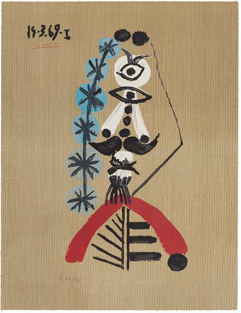 Pablo Picasso, 'Imaginary Portrait', 1969, Print, Color offset lithograph, Doyle