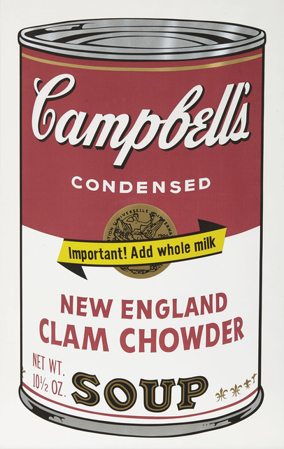Andy Warhol, 'New England Clam Chowder, from Campbell's Soup II', 1969, Christie's