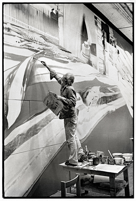 , 'James Rosenquist working on Star Thief,' 1980, Museum Ludwig