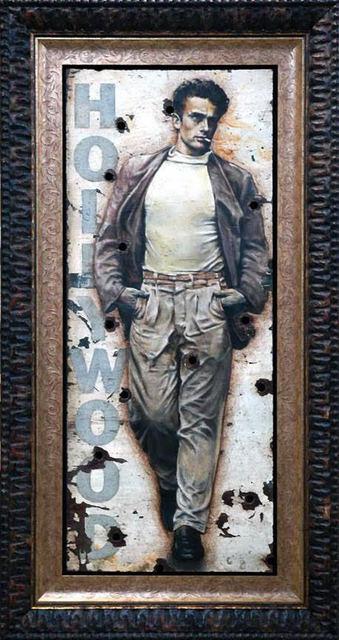 Bill Mack, 'Bill Mack Radically Cool – James Dean Original Hollywood Sign Mixed Media Unique Print Contemporary Art ', 1980-2010, Modern Artifact
