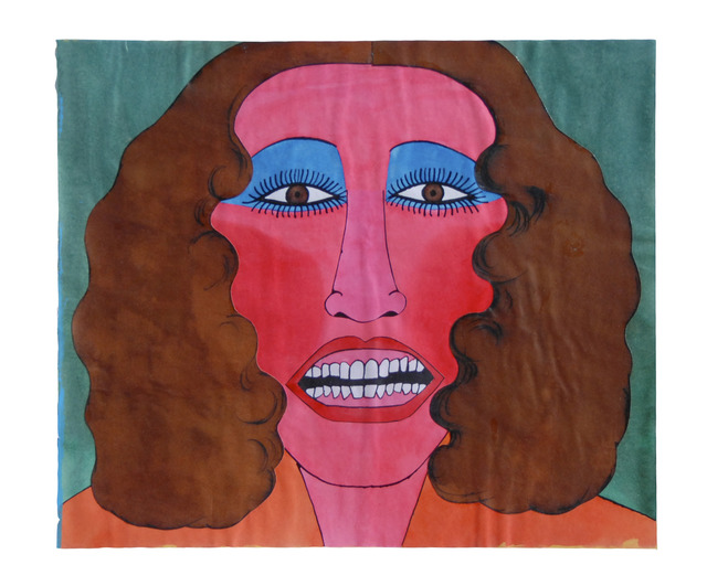 , 'Untitled (Head: Woman with blue eye shadow brown hair),' ca. 1970, FRED.GIAMPIETRO Gallery