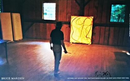 "Nan Golden's ""Brice Marden's Studio"" (Signed by Brice Marden), 1995"