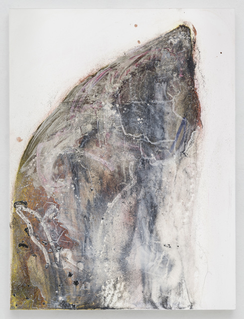 Suzanne McClelland, 'Mute A', 2019, Painting, Dry pigment, archival glitter, polymer on canvas, Marianne Boesky Gallery