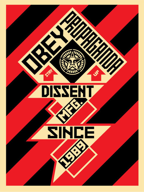 Shepard Fairey, 'Obey constructivist Banner red', 2010, DIGARD AUCTION