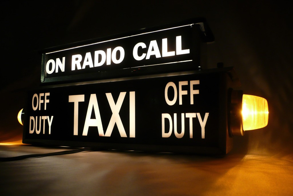 Taxi lamp 1970