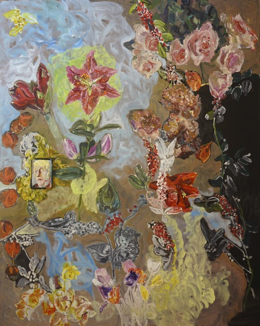 Peter Schmersal, 'some fleurs for you love', 2020, Painting, Oil on canvas, Flowers