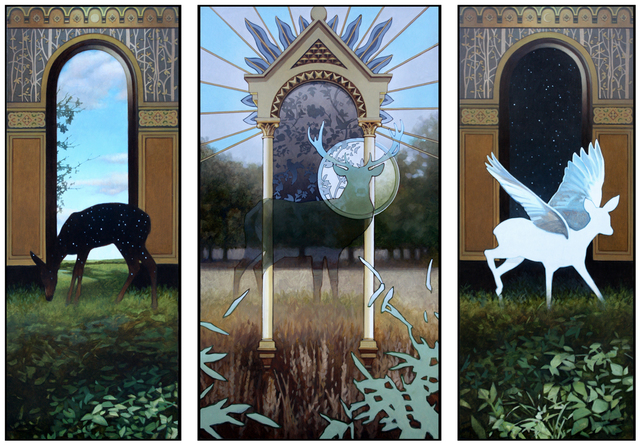 Aaron Morgan Brown, 'Deer Shrine Tryptych', 2018, Walker Fine Art