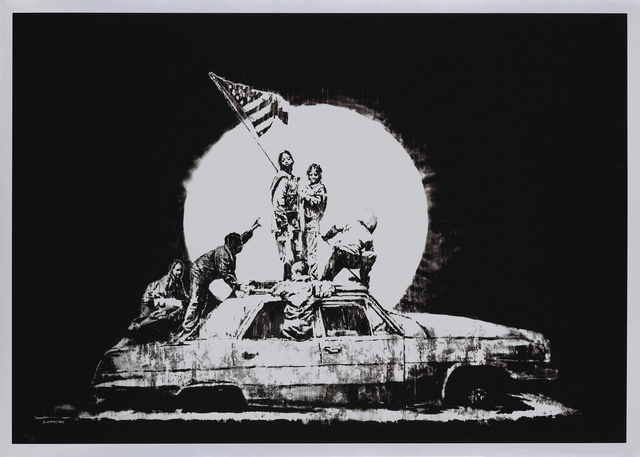 Banksy, 'FLAG (SILVER)', 2006, Gallery Art