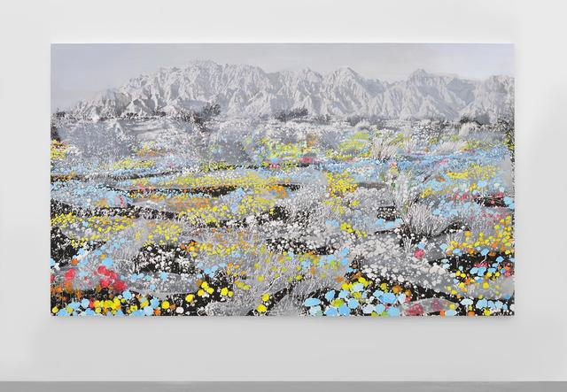 , 'Landscape and Blue and Pink and Yellow,' 2014, Almine Rech