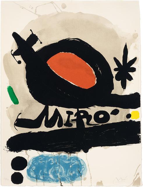 Joan Miró, 'Exhibition L'Oiseau Solaire, L'Oiseau Lunaire, Etincelles (M. 506)', 1967, Doyle