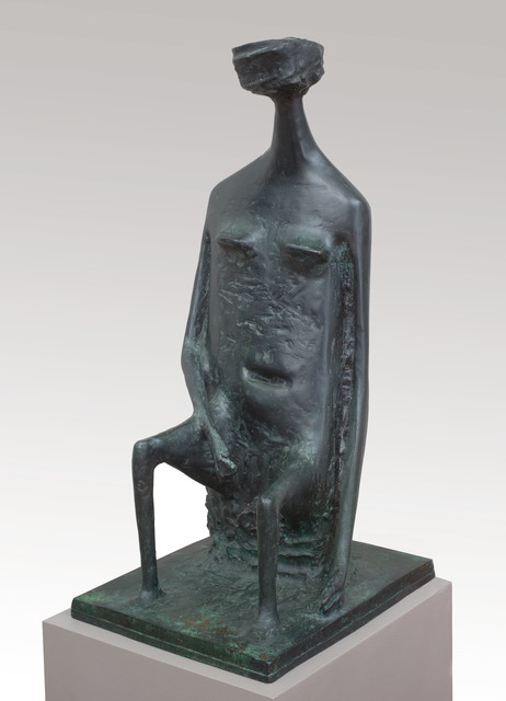 , 'Seated Woman with Square Head (double base),' 1955, Piano Nobile