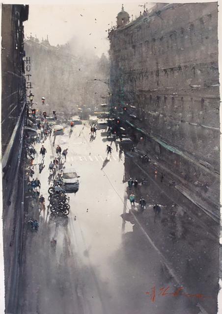 , 'Barcelona from my hotel window,' 2017, Barbara Frigerio Contemporary