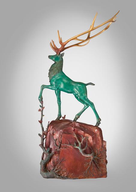 CHEN JING-QING 陳金慶, 'The Divine Deer Stepping On The Green Mountains 無住生香-玄鹿踏青山', 2017, ESTYLE ART GALLERY 藝時代畫廊