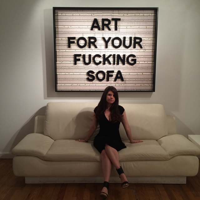 , 'Art for your fucking sofa,' 2015, Red Arrow Gallery