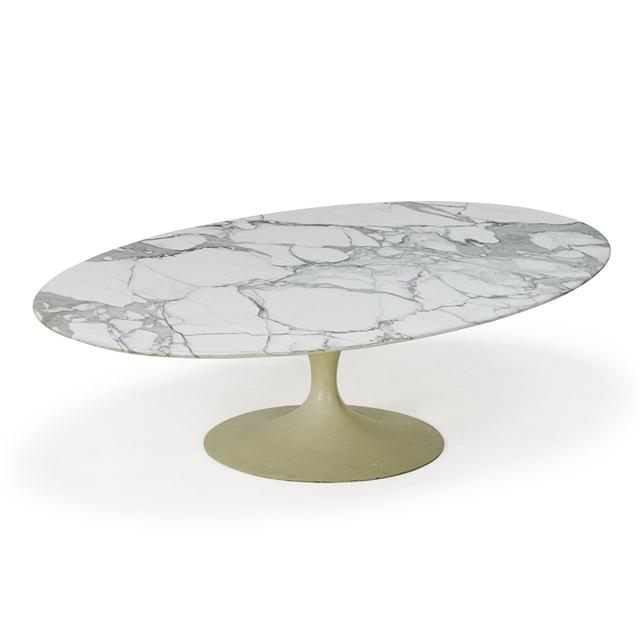 Eero Saarinen, 'Oval Top Tulip Coffee Table, New York', 1970s, Rago/Wright