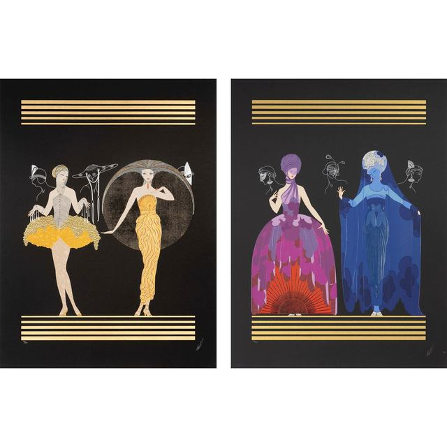 Erté, 'Morning Day/Evening Night Suite', 1982, Doyle