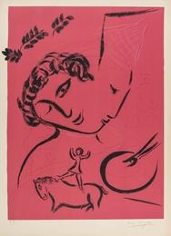 Le Peintre en rose (Mourlot 224)