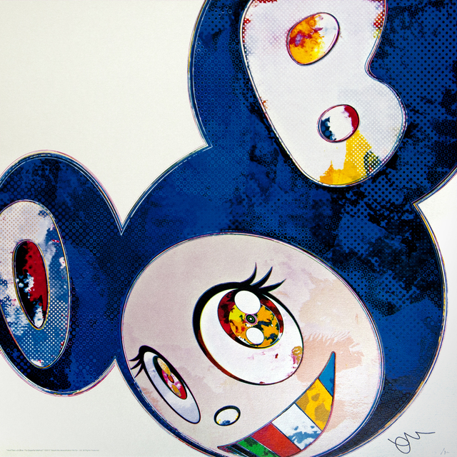 Takashi Murakami, 'and then x6 blue', 2013, Mixer