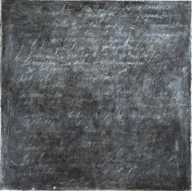 , 'Writings [Black] #4,' 2016, InLiquid