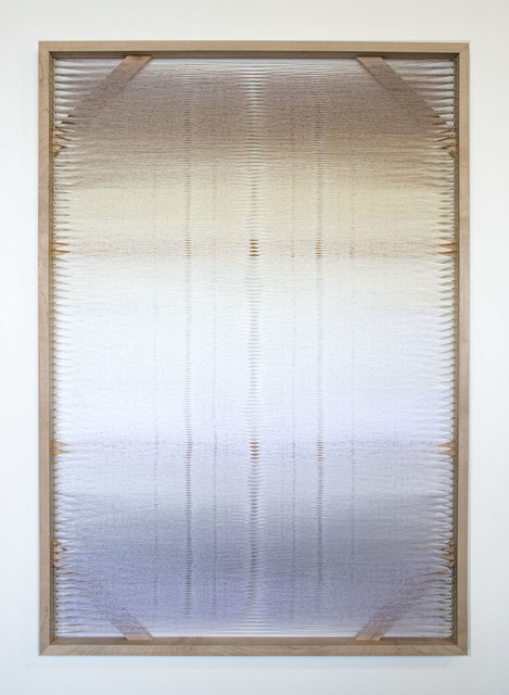 Rachel Mica Weiss, 'Woven Screen (White Gradient II)', 2019, Heather Gaudio Fine Art