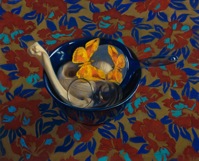 , 'Blue Bowl and Bone,' 2004, Vose Galleries