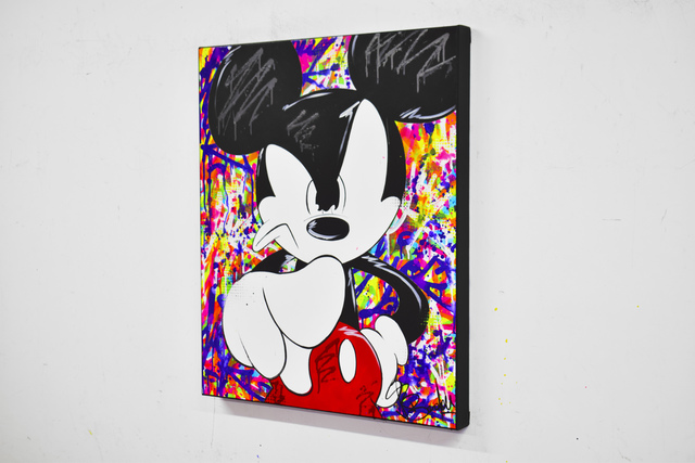 Vincent Bardou, 'ANGRY MICKEY', 2020, Painting, Painting on canvas on stretcher - aerosol paint, acrylic, Design By Jaler