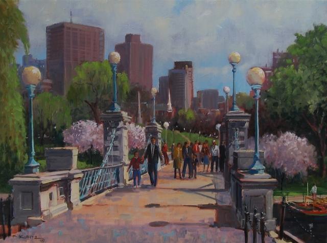 Frederick Kubitz, 'Spring Foot Bridge, Boston Public Garden', 2018, The Guild of Boston Artists
