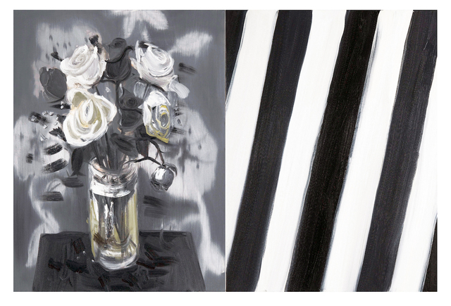 , 'Diptych Flowers (1-27-10, Stripe, Early Morning Glory), 2010,' 2010, Maccarone