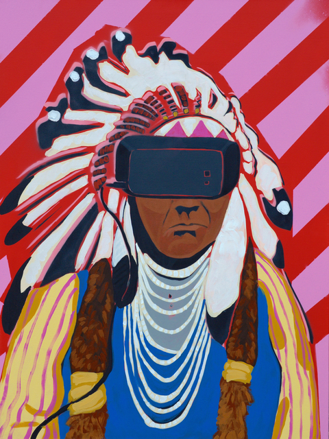 Frank Buffalo Hyde, 'Virtual Sovereignty are We Dreaming of Them or are They Dreaming of Us', 2017, Art Ventures Gallery