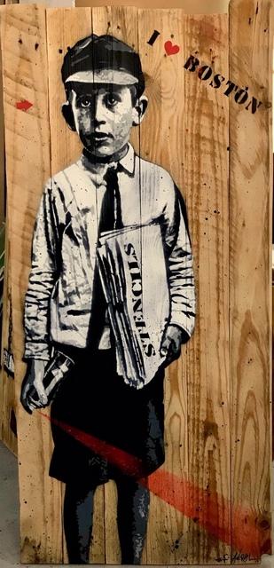 Jef Aérosol, 'The stencil boy', 2018, Happy Gallery