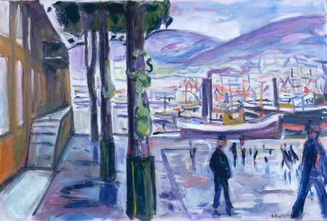 Edvard Munch, 'Der Hafen in Bergen (Bergen Harbour)', 1916, MK Fine Art
