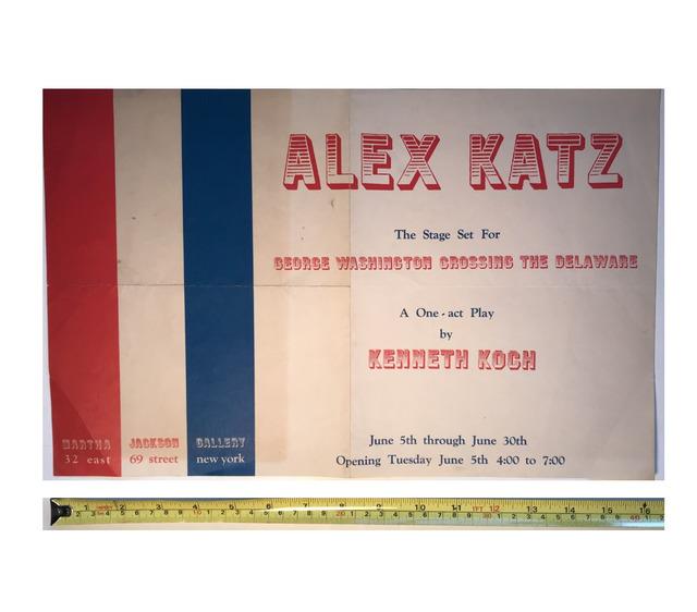 "Alex Katz, '""Alex Katz"", 1962, Stage Set, Invitation/Poster, Kenneth Koch, Martha Jackson Gallery NYC', 1962, Ephemera or Merchandise, Lithograph, VINCE fine arts/ephemera"