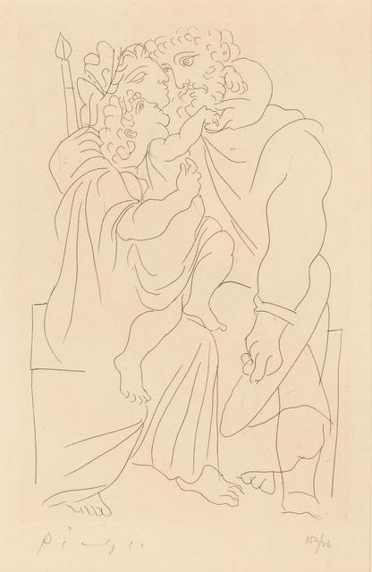 Pablo Picasso, 'Lysistrata:Couple et Enfant', 1934, Print, Etching, Hindman