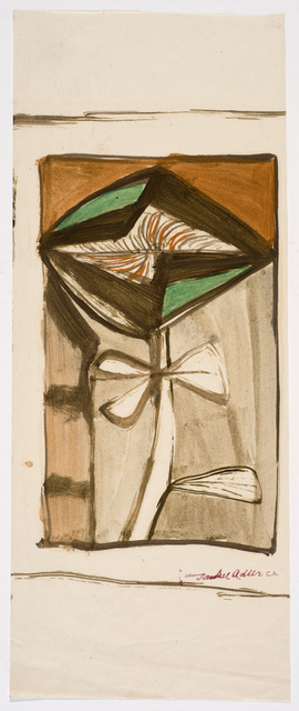 , 'Untitled (Abstract Flower),' Undated, Ben Uri Gallery and Museum