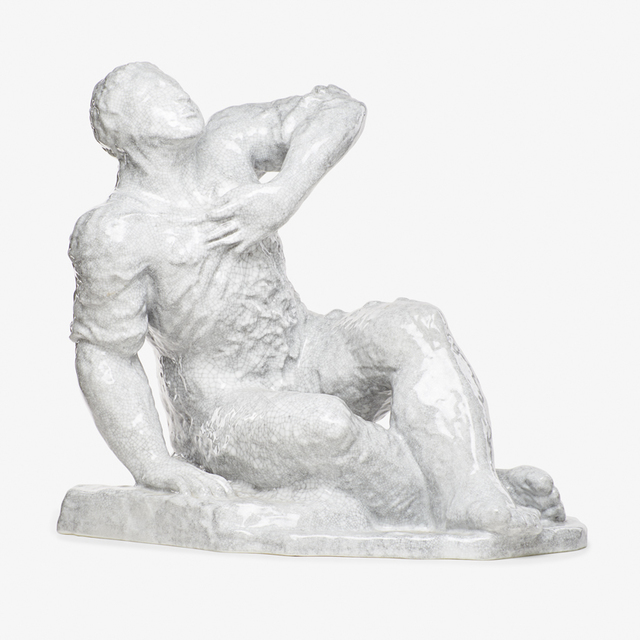 "Sandro Chia, 'Large figural sculpture ""Sitzender Mann (Sitting Man),"" edition of 40, Germany', 1987, Rago"
